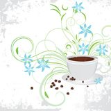 Cuvette de café avec la graine de café. Photos stock