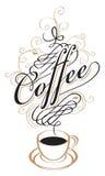 Cuvette de café avec la vapeur illustration stock