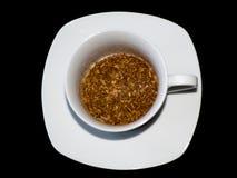 Cuvette de café avec le café instantané Images stock