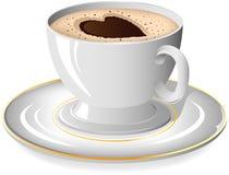 Cuvette de café avec le coeur Image stock