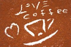 Cuvette de café avec le coeur Images stock