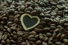 Cuvette de café avec le coeur Images libres de droits
