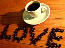 Cuvette de café avec le coeur Photographie stock libre de droits