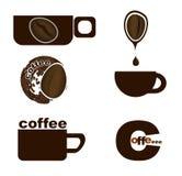 Cuvette de café avec le grain de café Images libres de droits