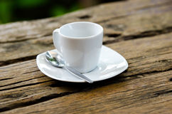 Cuvette de café blanc Photo stock