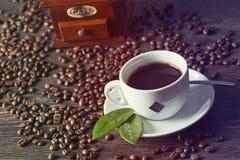 Cuvette de café blanc Photos libres de droits