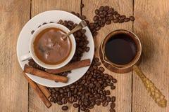 Cuvette de café blanc Image libre de droits
