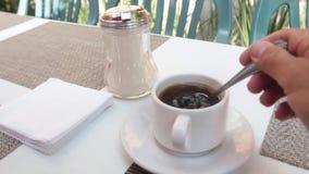Cuvette de café blanc clips vidéos
