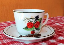 Cuvette de café blanc Photographie stock libre de droits