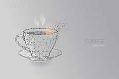 Cuvette de café blanc ligne conception de point Photographie stock libre de droits