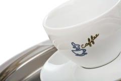 Cuvette de café blanc vide Image stock