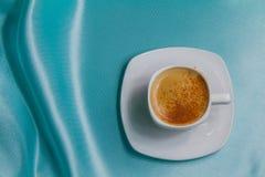 Cuvette de café blanche Photo stock