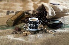 Cuvette de café, café express Photographie stock