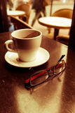 Cuvette de café chaud Photo stock