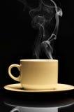 Cuvette de café chaud Photographie stock