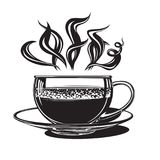 cuvette de café chaude illustration de vecteur