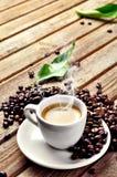 Cuvette de café chaude images stock