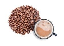 Cuvette de café chaude avec le chemin de découpage Image libre de droits