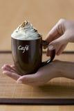 Cuvette de café délicieux Images stock