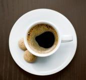 Cuvette de café délicieux Photographie stock