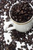 cuvette de café d'haricot image libre de droits