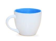Cuvette de café d'isolement au-dessus du fond blanc Photo stock
