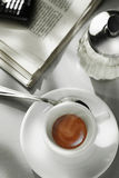 Cuvette de café dans un café Images libres de droits