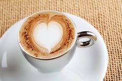 Cuvette de café de cappuccino Image stock