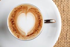 Cuvette de café de cappuccino Images stock