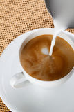 Cuvette de café de cappuccino Image libre de droits