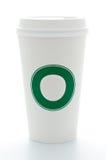 Cuvette de café de papier avec le dessus en plastique image libre de droits