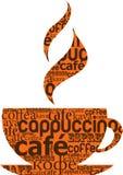 Cuvette de café effectuée à partir de la typographie Images stock