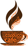 Cuvette de café effectuée à partir de la typographie Images libres de droits