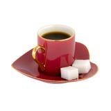 Cuvette de café en forme de coeur Images libres de droits
