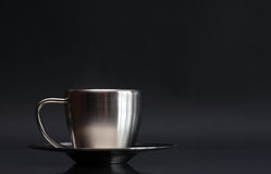 Cuvette de café en métal Images stock