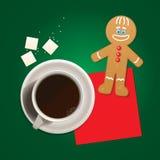 Cuvette de café et de biscuit de Monsieur. Photographie stock