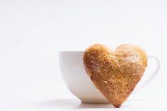 Cuvette de café et de biscuits Images libres de droits