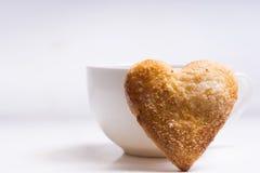 Cuvette de café et de biscuits Images stock