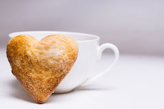 Cuvette de café et de biscuits Photo stock