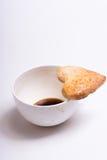Cuvette de café et de biscuits Image libre de droits