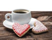 Cuvette de café et de biscuits faits maison Image libre de droits
