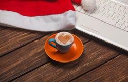 Cuvette de café et de cahier Image libre de droits