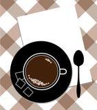 Cuvette de café et de cuillère Photos stock