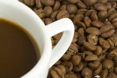 Cuvette de café et haricot - 2 Images libres de droits