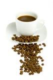 Cuvette de café et haricot - 3 Photos stock