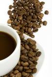 Cuvette de café et haricot - 4 Image libre de droits