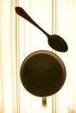 Cuvette de café et la cuillère Photos stock