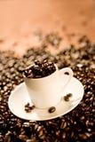 Cuvette de café express photographie stock libre de droits