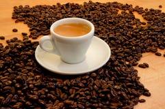 Cuvette de café express Image libre de droits