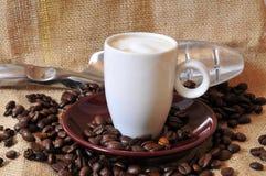 Cuvette de café express de Kaffee Images libres de droits